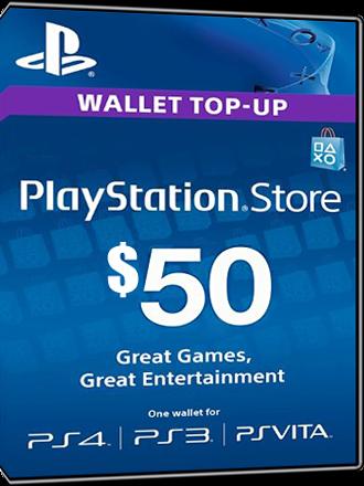 Playstation Network Card PSN Key 50 Dollar USA Screenshot