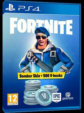 Fortnite Bomber Skin + 500 V Bucks [EU] - PS4 Download Code