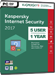 Kaspersky Internet Security 2017 (5 postes / 1 an)