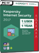 Kaspersky Internet Security 2017 (1 poste / 1 an)