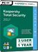 Kaspersky Total Security 2017 (3 postes / 1 an)