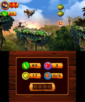 Donkey Kong Country Returns - 3DS Screenshot 1