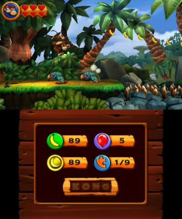 Donkey Kong Country Returns - 3DS Screenshot 3