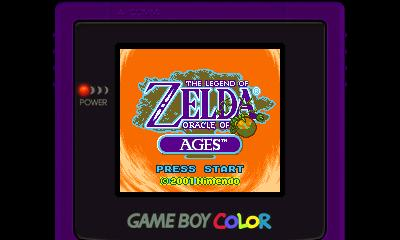 Legend of Zelda - Oracle of Ages (GBC) - 3DS Screenshot 1
