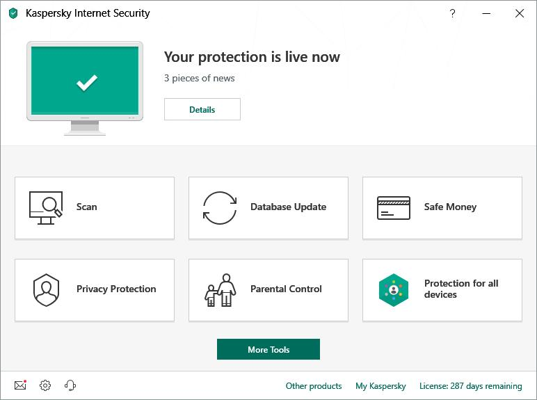 Kaspersky Internet Security Multi-Device 2019 (3 Users / 1 Year) Screenshot 1