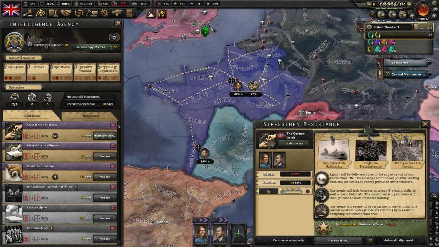 Hearts of Iron IV - La Resistance (DLC) Screenshot 4