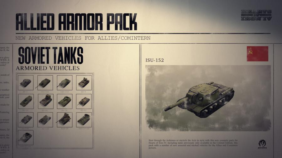 Hearts of Iron IV - Allied Armor Pack (DLC) Screenshot 4